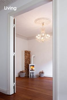 Brick Feature Wall, Recycled Brick, Brick And Wood, House Inside, Wood Design, Fireplaces, Firewood, Home Office, Sweet Home