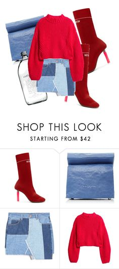 """""""UNTITLED"""" by kompaktt on Polyvore featuring Vetements, Simon Miller, MANGO and H&M"""