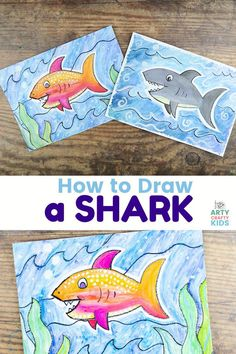 Summer Crafts For Kids, Summer Fun, Art For Kids, Under The Sea Crafts, Outdoor Fun For Kids, How To Make Drawing, Ocean Crafts, Art Activities For Kids, Crafty Kids