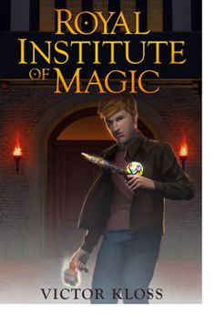 """http://bookbarbarian.com/royal-institute-of-magic-by-victor-kloss/ Two years ago, Ben Greenwood's parents walked out the door and never returned. The police have all but given up finding them when Ben stumbles upon a peculiar letter addressed to his dad. """"You are the most wanted man in the Unseen Kingdoms. Unless you come to us, we cannot help. For your child's sake, tell us what you know.""""   The letter is from an organisation called the Royal Institute of Magic and is"""
