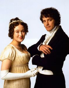 Jennifer Ehle and Colin Firth as Elizabeth Bennet and Fitzwilliam Darcy in the BBC adaptation of Jane Austen's novel,Pride and Prejudice. Colin Firth, Darcy And Elizabeth, Elizabeth Bennett, Eliza Bennett, Jennifer Ehle, Beau Film, Sr Darcy, Winchester, Darcy Pride And Prejudice