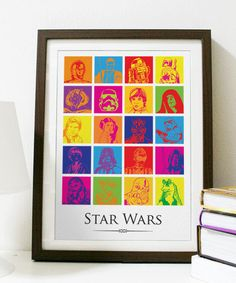 LOVE THIS! - Star Wars Pop Art A3 Poster Print by Posterinspired on Etsy, $18.00