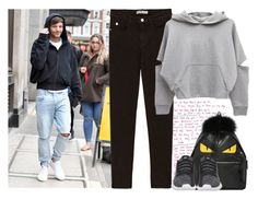 """JFK Airport with Louis"" by ilaria-1999 ❤ liked on Polyvore featuring Fendi and adidas"