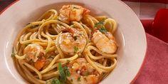 Shrimp Scampi with Bucatini Noodles Recipe : Nancy Fuller : Food Network Top Recipes, Fish Recipes, Seafood Recipes, Cooking Recipes, Pasta Recipes, Bucatini Recipes, Cooking Food, Meal Recipes, Seafood
