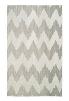 Gray chevron flat weave rug. Genevieve Gorder for Capel Rugs.  Like! http://cococozy.com