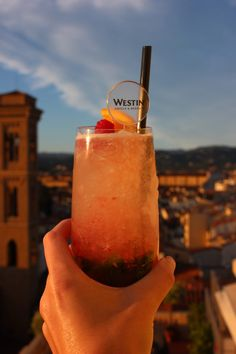 Westin Excelsior rooftop drinks. Florence, Italy