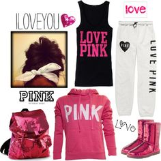 """LOVE Pink or go home!!"" by peacelovefastpitch ❤ liked on Polyvore"