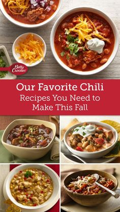 Put your pot on because these twists on chili are too good to miss.