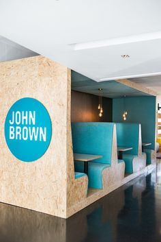 A Creative Workspace for John Brown Media South Africa, Cape Town, 2014 - Inhouse Brand Architects Cafe Interior, Office Interior Design, Office Interiors, Interior Decorating, Office Designs, Theater Room Decor, Office Decor, Office Ideas, Cubicle Partitions