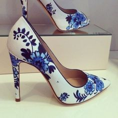 these look like wedgewood Printed Shoes real class the right outfit these would look great