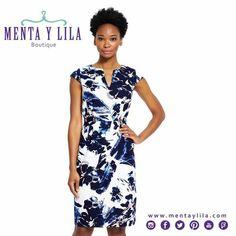 Lindo vestido de nuestras nuevas marcas de New York, Adrianna Papell. En Menta y Lila Tenemos lindas opciones de outfits para mamá.