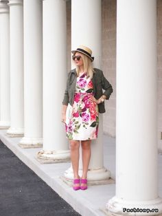 dress floral summer style fashion army hat
