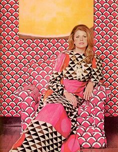David Hicks fabrics, T and C circa July 1971  Stay in the Pink, la vie en rose is better than la vie en gray