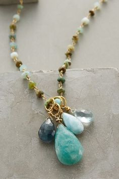 Dewdrops Necklace - anthropologie.com #anthroregistry  I hate it when I finish a new and different necklace and then see a close version of it on Pinterest.