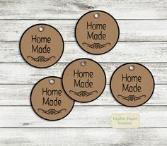 Home Made tags, Home Made labels, party favors labels, hand made, gift tags, DIY Printable, Digital delivery, INSTANT DOWNLOAD