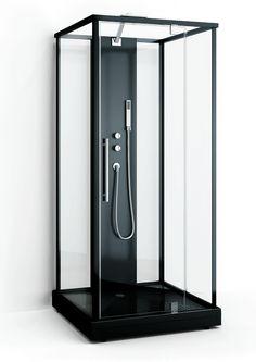 Stilig, svart dusjkabinett :) Box Two dusjkabinett (bildet er lånt fra leverandør Macro)Et slikt dusjkabinett blir mest sannsynlig montert på det minste badet i KARAKTER XL– Det kommer mer…