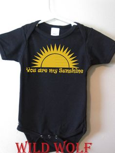You are my sunshine cute baby bodysuit baby girl by BlueFoxApparel, $14.99