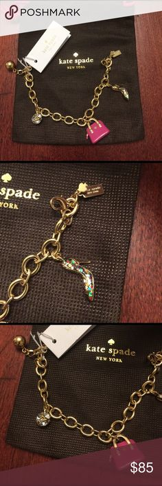 Friday sale!! Kate spade charm bracelet Kate spade charm bracelet new with bag kate spade Jewelry