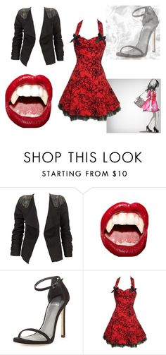 """""""Vampire Kisses"""" by beauty-queens-always ❤ liked on Polyvore featuring Modström, Manic Panic and Stuart Weitzman"""