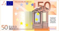 The 50 euro depicts Renaissance architecture.  Renaissance in french means rebirth and the period from the 14th century to the 17th century serves as a rebirth of stylistic freedom.