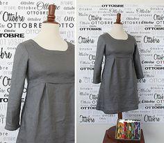 """Stitch Details"" linen tunic dress by Ottobre design"