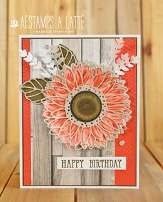 Sunflower Cards, Earth Tone Colors, Fall Birthday, Fall Cards, Happy Birthday Cards, Stamping Up, Scrapbook Cards, Homemade Cards, Stampin Up Cards