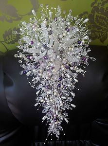 crystal wedding flowers and boques