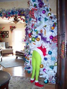 Grinch in the Christmas tree... hahaha