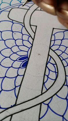 Mandala Drawing, Mandala Painting, Mandala Art, Crochet Mandala, Flower Mandala, Carillons Diy, Diy Crafts, Kalamkari Painting, Doodle Art Designs