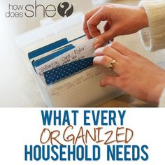 What every organized household should have