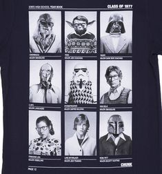 Men's Navy Class Of 77 Star Wars T-Shirt from Chunk
