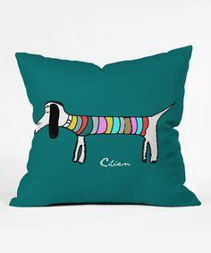 Look at this #zulilyfind! Brian Buckley Chien Vert Throw Pillow by DENY Designs #zulilyfinds