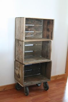 Wood Crate Shelf or Side table