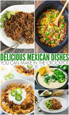 Easy Mexican Crockpot Recipes - Family Fresh Meals - Food and drink Crockpot Recipes Mexican, Healthy Crockpot Recipes, Slow Cooker Recipes, Cooking Recipes, Slow Cooking, Meal Recipes, Crockpot Meals, Shrimp Recipes, Potato Recipes