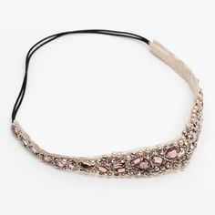 Elegant Rhinestoned Beading Lace Headband For Women THIS IS COOL if I went to FABRIC STORE I could most likely do this.