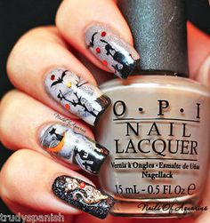 Halloween-Nail-Art-Stickers-Nail-Water-Decals-Transfers-Ghosts-Spiders-Pumpkins