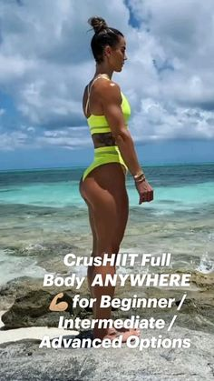 Body Workout At Home, Gym Workout Videos, Gym Workout For Beginners, Fitness Workout For Women, Hitt Workout, Beach Workouts, Workout Challenge, Physical Fitness, Sport