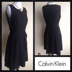 New Listing Calvin Klein Little Black Dress Calvin Klein little Black dress. Classics health style with full skirt. Very versatile can take you from work to play with a change of accessories. Bundle & Save ! Calvin Klein Dresses