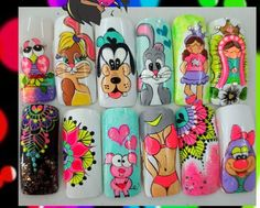 Arte Floral, Pedicure, Nail Designs, Nail Art, Nails, How To Make, Kids Stickers, Bride Nails, Enamel