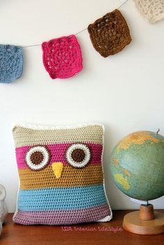 Meet a new friend: crochet cushowl by IDA Interior LifeStyle, via Flickr