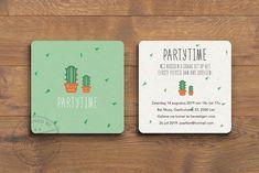 Geboortekaart Cactus - FluffyCloud Geboortekaartjes