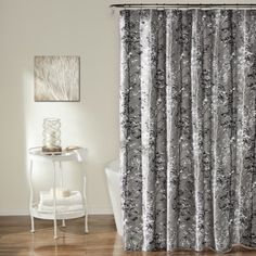 Style Lounge Shower Curtain. Lush Decor Grey Forest Shower Curtain  18002296 Overstock com Shopping Great Deals Style Lounge Gray Elaina curtains