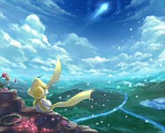 Jirachi. Don't forget to like this Pokemon Facebook page for more cool Pokemon content: http://www.facebook.com/shinydragonairx