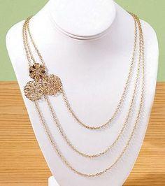 Filigree Pyramid Necklace