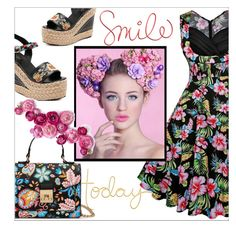 """Floral set"" by mujkic-merima ❤ liked on Polyvore featuring vintage and rosegal"