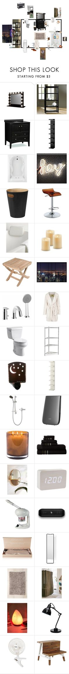 """""""Untitled #90"""" by xteenxidlex ❤ liked on Polyvore featuring Ballard Designs, American Standard, Umbra, Furniture of America, Simons Maison, CO, WS Bath Collections, UGG Australia, Kohler and Improvements"""