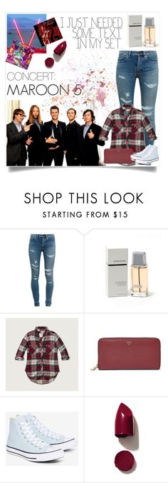 """Maroon 5: Concert"" by dumplingxd ❤ liked on Polyvore featuring Yves Saint Laurent, Adam Levine, Abercrombie & Fitch, FOSSIL, Converse and NARS Cosmetics"