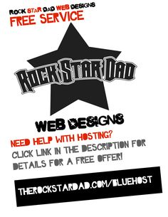 www.therockstardad.com/bluehost  I am passionate about small businesses. And when I can do something for free for someone, I will. If you need help getting a domain name or setting one up/transferring one to a hosting service, I will help you for free.