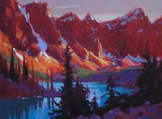 Valley of the Ten Peaks - sunset