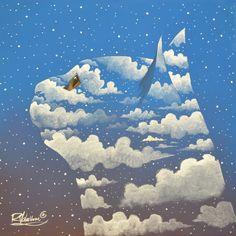"""The Original Painting """" A CAT WAS HERE """" is available now: http://ift.tt/1Pg961S La Peinture Originale """" UN CHAT ÉTAIT ICI """" est disponible: http://ift.tt/1Rqh52O Fine art print: http://ift.tt/1Pg96i8"""